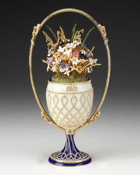 Faberge Crystal Vase Exquisite And Rare Music Boxes Singing Birds Mechanical