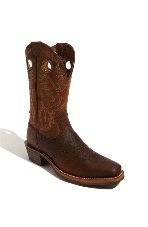 heritage boots ariat heritage roughstock boot in brown for
