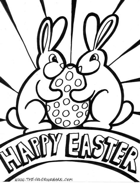 2 rabbit say quot happy easter quot coloring pages gt gt disney