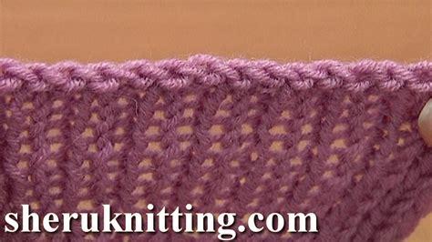 how do i finish knitting sewn bind cast in knitting tutorial 7 method 10 of