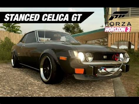 stanced cars forza horizon 3 stanced wide celica gt forza horizon 3