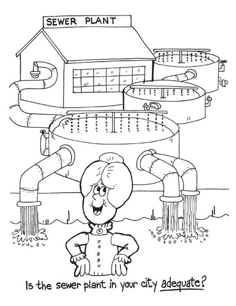water treatment coloring page environmental colouring pages is the sewer plant in your