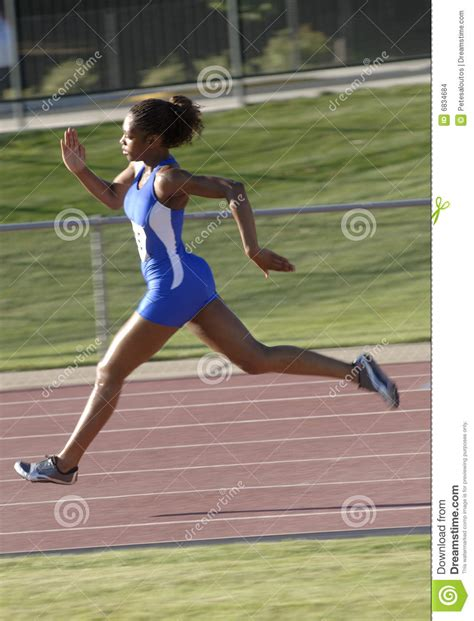 track runner stock images image