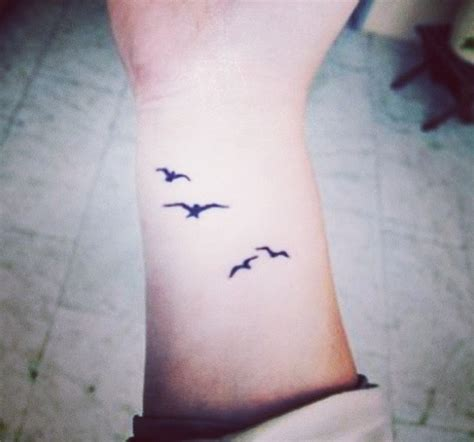 I Love The Delicate Bird Tattoos Ink Pinterest Bird Wrist Tattoos For 2
