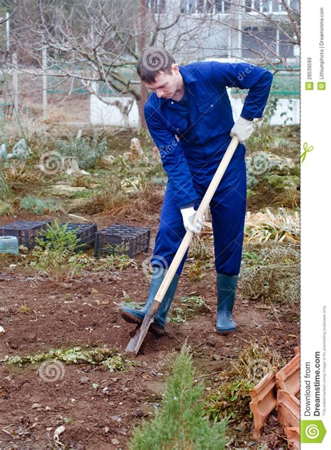 Digging On by Digging Soil Stock Image Image Of Excavate Farmer