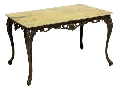 louis xv style marble metal coffee table april estates