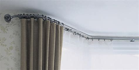 flexible curtain rails for bay windows help looking for bay window pole curtains bendable