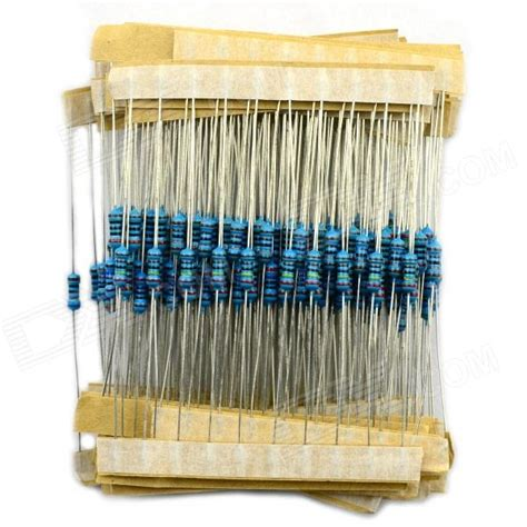 100 ohm resistor blue jtron 1 4w colored ring resistor pack 100 ohm 2k 27 kinds 10 pcs blue silver 270 pcs