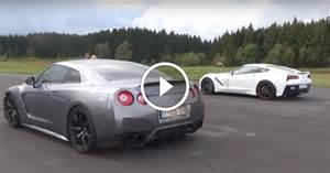 Nissan Drag Race Nissan Gt R Vs Chevrolet Corvette Z06 Drag Race