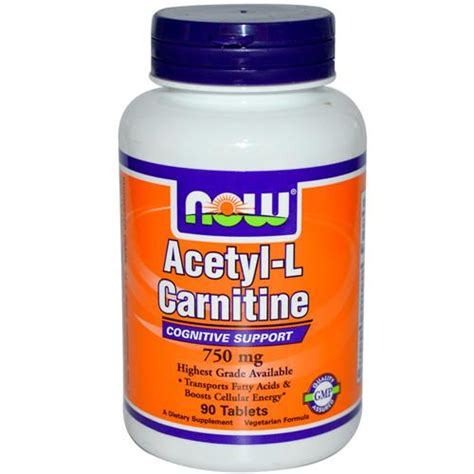 carnitina alimenti acetyl l carnitina 750 mg 90 cps now foods