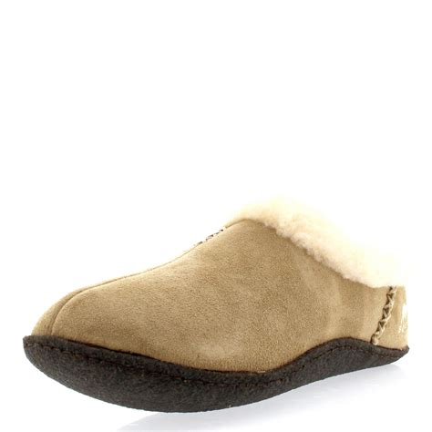 three house shoes womens sorel nakiska winter fur lined warm suede house shoes slippers uk 3 9