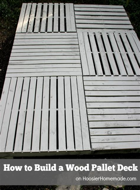 Leveling A Patio Base How To Build A Wood Pallet Deck Hoosier Homemade