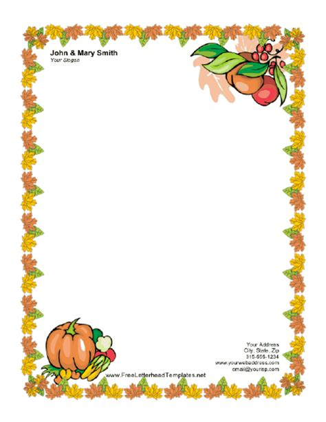 thanksgiving template word thanksgiving letterhead with pumpkin letterhead