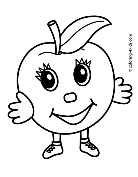 cartoon apple coloring pages apple cartoon character lifting weights coloring page