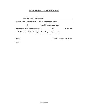 non certification letter certificate sle letter forms and templates
