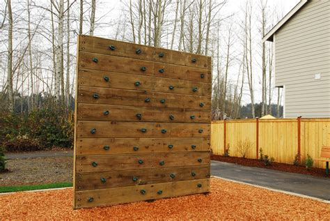backyard rock wall rock climbing walls pacific outdoor products