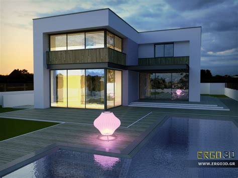 ms house rendered  octanerender  sketchup model
