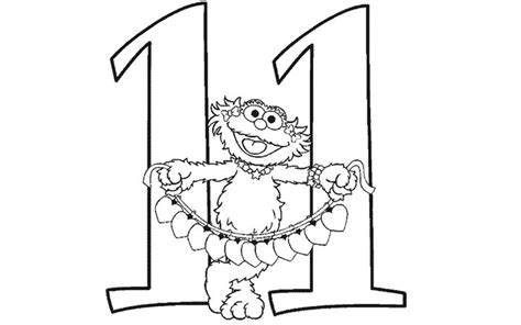 Number 11 Free Coloring Pages Number 11 Coloring Page
