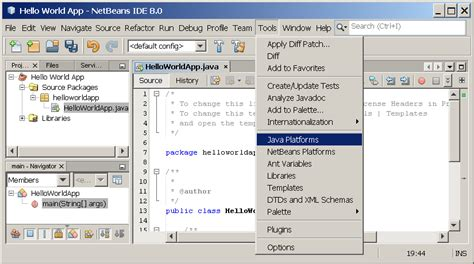 oracle tutorial for java quot hello world quot for the netbeans ide the java tutorials