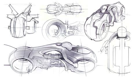 Sketches Def by Daniel Simon Talks On The Legacy Lightcycle Design