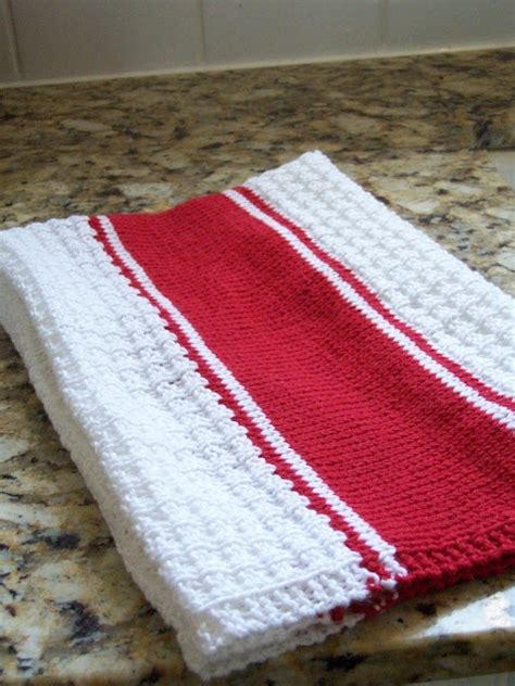 knitted tea towel pattern knit stripe tea towel knitting yarn
