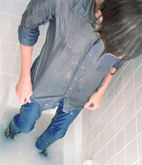 wear jeans in bathtub wearing wet clothes like it says clay flickr