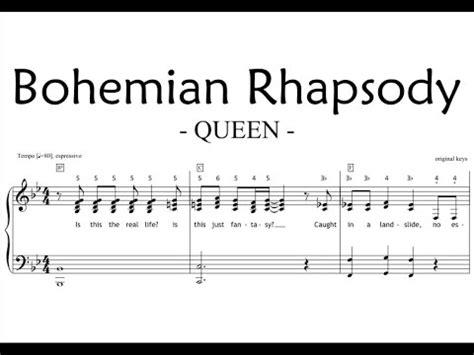 tutorial piano queen bohemian rhapsody piano piano chords queen bohemian rhapsody piano chords