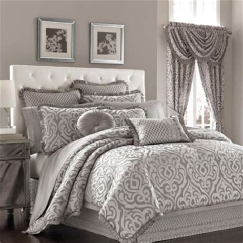 silver comforter king j queen new york luxembourg king comforter set in