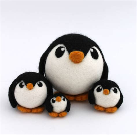 Penguin Decorations by Needle Felted Penguin Decoration By Feltmeupdesigns