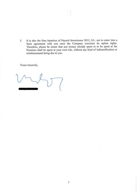 renewal of lease agreement letter south african lease extension