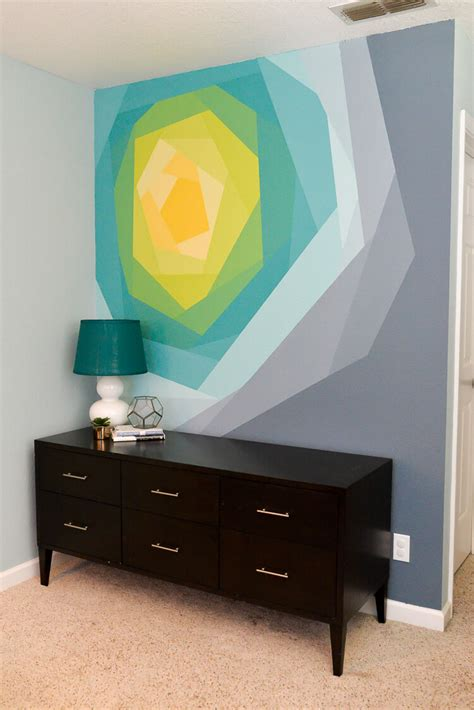 How To Make Wall Murals painted flower wall mural artwork hey let s make stuff