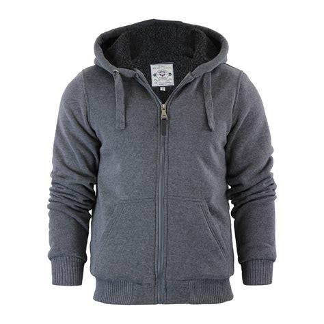 Fleece Lined Zip Hoodie mens hoodie brave soul zone sherpa fleece lined zip up