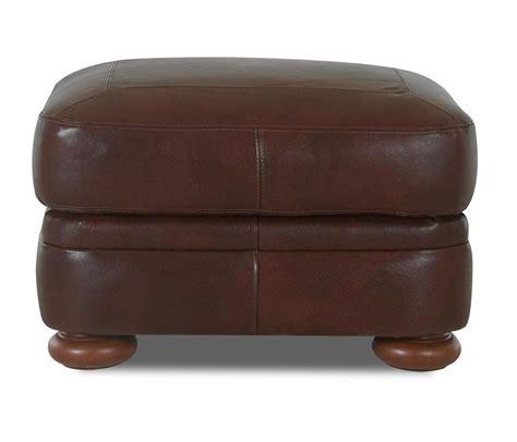 value city furniture ottoman klaussner montezuma leather ottoman with bun value