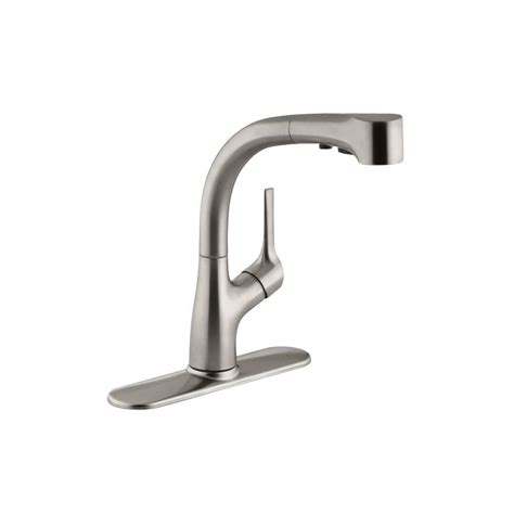 kitchen faucet logos kohler coralais single handle pull out sprayer kitchen