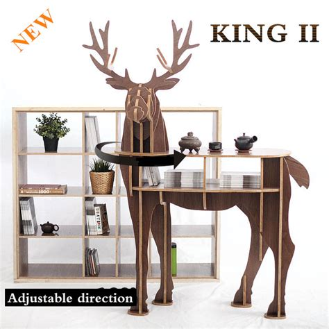 new j e wooden deer home decor coffee table king ii self