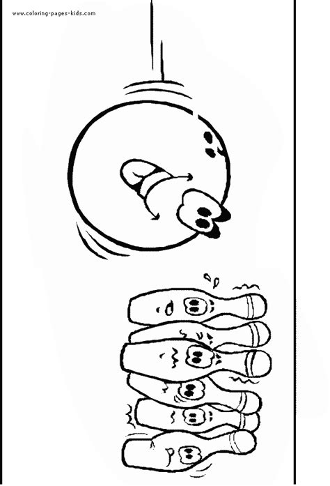 bowling coloring pages coloring home