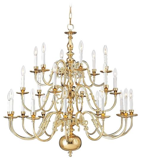 Three Tier Chandelier Traditional Holtkoetter Polished Brass Three Tier Chandelier Traditional Chandeliers By