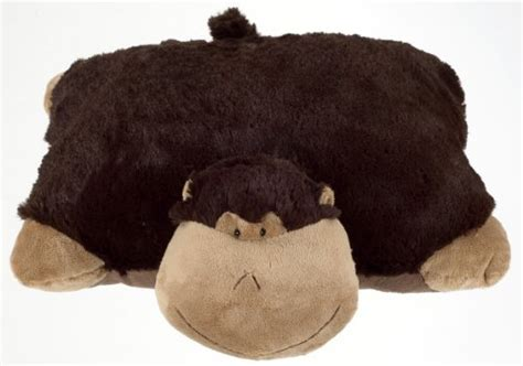 Brown Pillow Pet by Pillow Pet Silly Monkey Large Brown Fuhzee