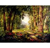 Enchanted Forest Backgrounds  WallpaperSafari