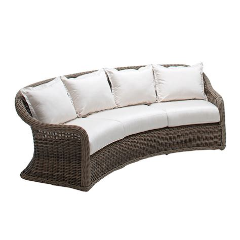 Curved Rattan Sofa All Weather Wicker Curved Sofa Frontgate