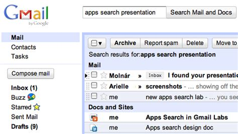 Gmail Search For Releases Universal Search For Gmail Docs And