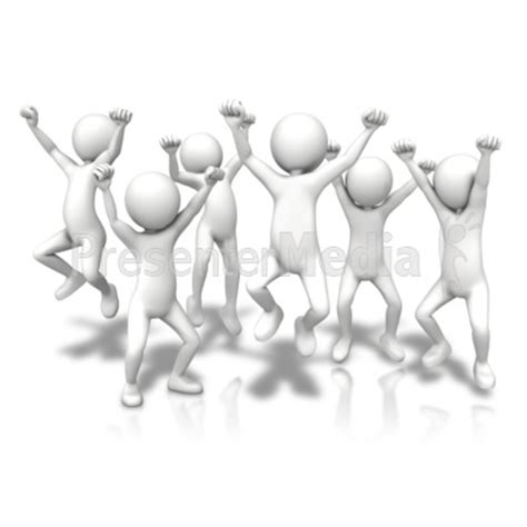 group jumping up   presentation clipart   great clipart for presentations     presentermedia