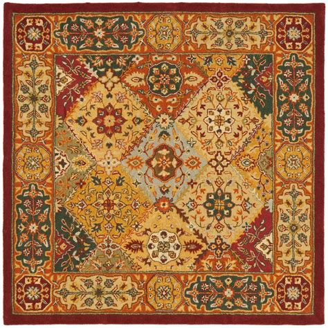 Safavieh Heritage Multi 6 Ft X 6 Ft Square Area Rug Rugs 6 Ft