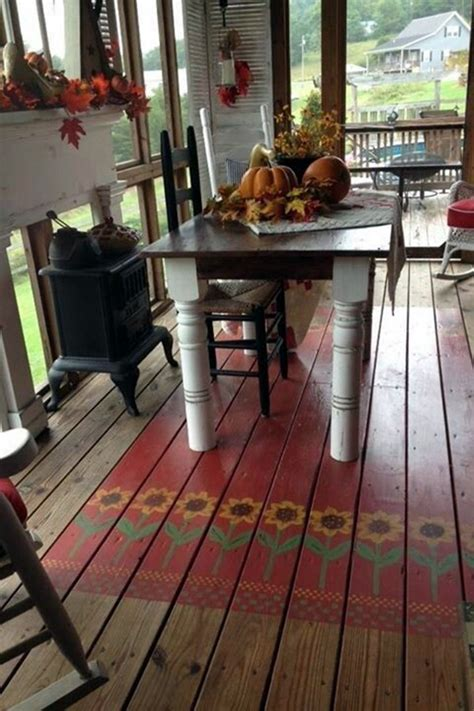 creative wood floor paint decoration art works