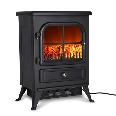 1500w electric fireplace free standing heater