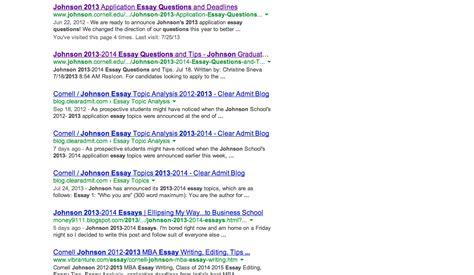 Johnson Mba Essay Table Of Contents Sle by New Johnson 2013 2014 Essays Ellipsing My Way To