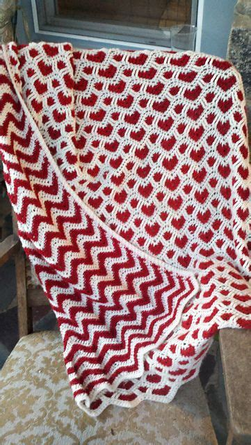 crochet pattern x s and o s hearts waves afghan now that s just awesome beautiful