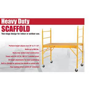 Heavy duty portable scaffold 69055 alternate photo 2