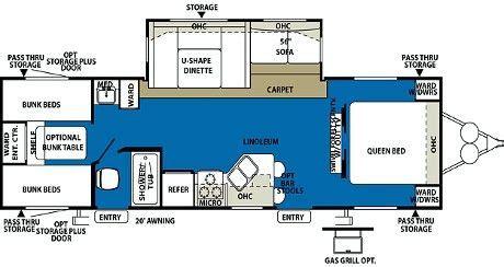triple bunk travel trailer floor plans quad bunk travel trailer floor plan google search
