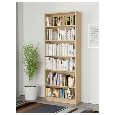 billy bookcase birch veneer 80x28x202 cm ikea